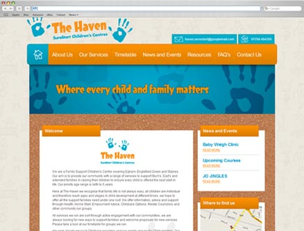 Haven SureStart design and developed by Fantasmagorical