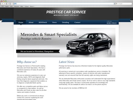 Prestige Car Service design and developed by Fantasmagorical