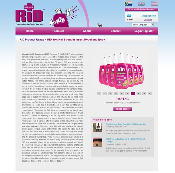 RiD Repellent Product Page