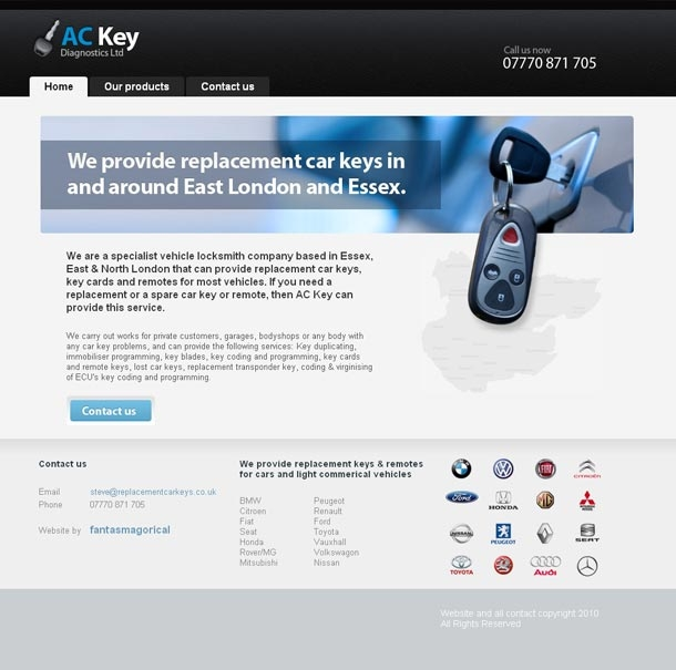 Replacement Car Keys Homepage