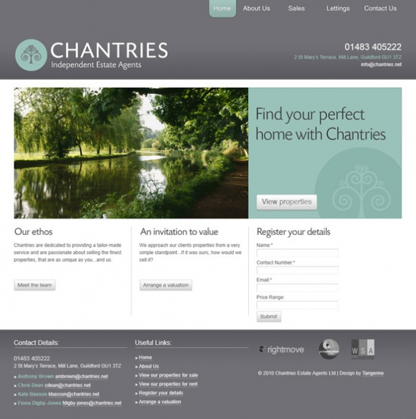 Chantries Homepage