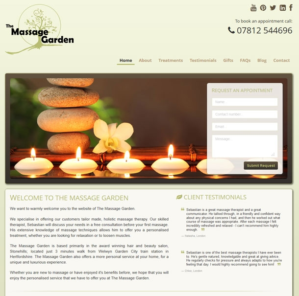 The Massage Garden Homepage