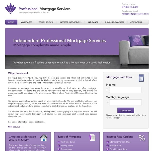 Professional Mortgage Services Homepage