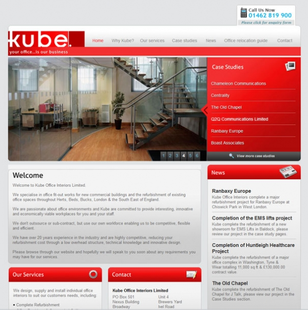 Kube Office Interiors Homepage