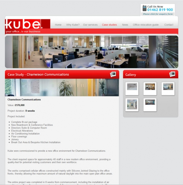 Kube Office Interiors Service Page