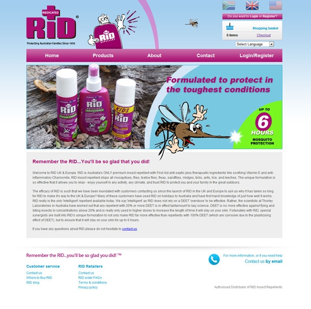 RiD Repellent Homepage