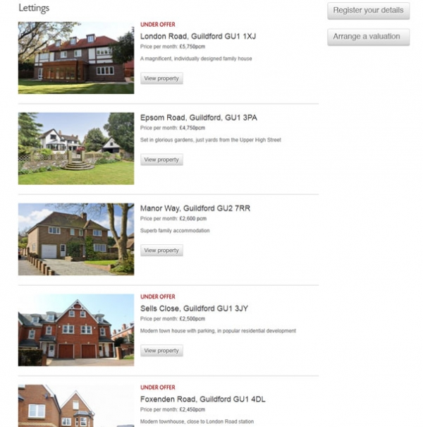 Chantries Properties to let