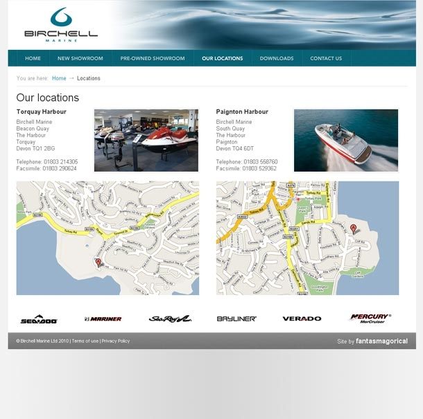 Birchell Marine locations page