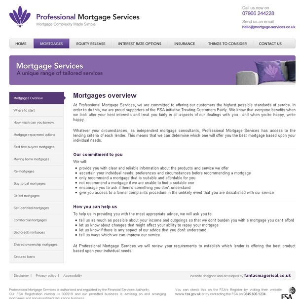 Professional Mortgage Services Mortgages